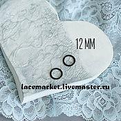 Фурнитура для шитья ручной работы. Ярмарка Мастеров - ручная работа Кольцо для бретели черное металл 12 мм. Handmade.