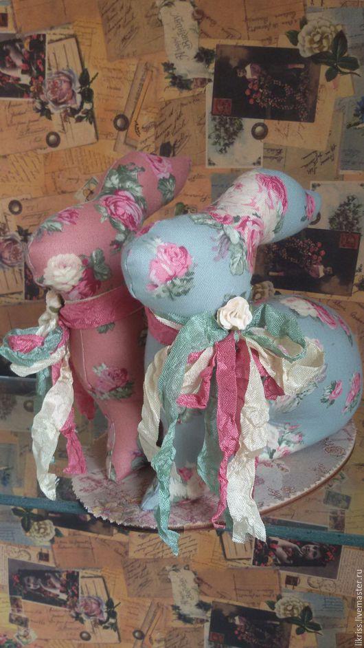 Подарки для влюбленных ручной работы. Ярмарка Мастеров - ручная работа. Купить Парочка зайчиков. Handmade. Комбинированный, текстильные зайцы