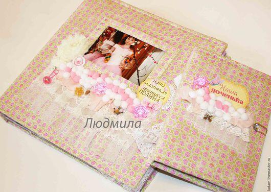 Блокноты ручной работы. Ярмарка Мастеров - ручная работа. Купить Набор для новорождённого, альбом и мамин блокнот. Handmade. Желтый