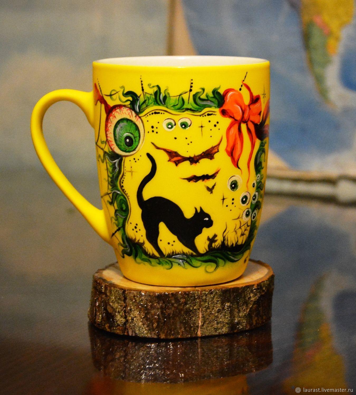"""Подарки: Чайная кружка """"Фантазия на тему Хэллоуин"""":, Кружки и чашки, Тула,  Фото №1"""