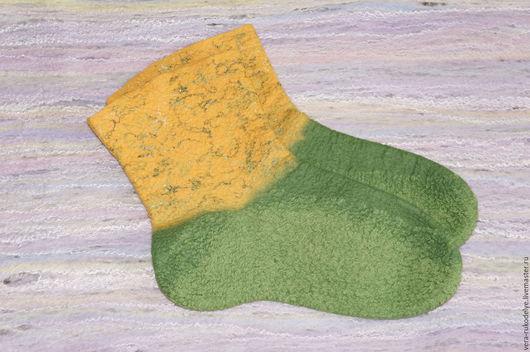 Носки, Чулки ручной работы. Ярмарка Мастеров - ручная работа. Купить Носки валяные женские. Handmade. Комбинированный, носки на заказ