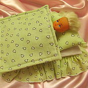 Куклы и игрушки handmade. Livemaster - original item Bedding for dolls up to 15cm. Handmade.