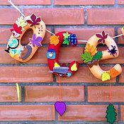 Для дома и интерьера ручной работы. Ярмарка Мастеров - ручная работа Интерьерная гирлянда Осень. Handmade.