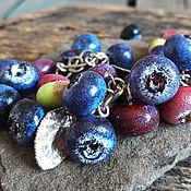"""Украшения ручной работы. Ярмарка Мастеров - ручная работа Браслет лэмпворк """"Purple blueberry"""". Handmade."""