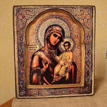 Pictures and panels handmade. Livemaster - original item Icon Of The Theotokos Of Smolensk. Handmade.