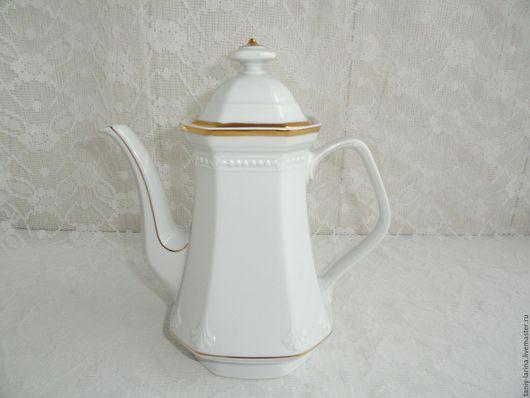 Винтажная посуда. Ярмарка Мастеров - ручная работа. Купить Кофейник большой, чайник Mitterteich Германия. Handmade. Белый, посуда, кухонная утварь