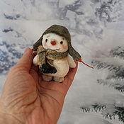 Мини фигурки и статуэтки ручной работы. Ярмарка Мастеров - ручная работа Снеговик. Handmade.