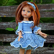 Куклы и игрушки ручной работы. Ярмарка Мастеров - ручная работа Мальвина - наряд для куклы. Handmade.