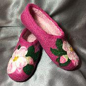 Обувь ручной работы. Ярмарка Мастеров - ручная работа тапочки из войлока. Handmade.