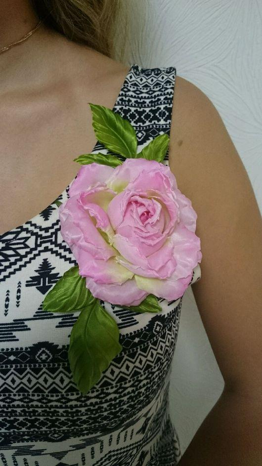 """Цветы ручной работы. Ярмарка Мастеров - ручная работа. Купить Роза """""""" Нежность"""""""". Handmade. Подарок, брошь-цветок"""