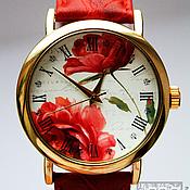 """Украшения ручной работы. Ярмарка Мастеров - ручная работа Часы наручные JK """"Красные розы"""". Handmade."""