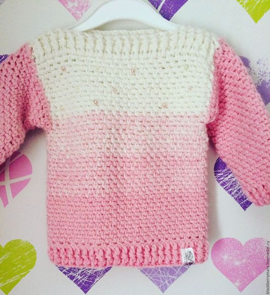 Одежда унисекс ручной работы. Ярмарка Мастеров - ручная работа. Купить Детский свитерок с градиентом. Handmade. Свитер вязаный