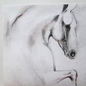 Картины и панно ручной работы. Ярмарка Мастеров - ручная работа Картина лошадь Только вперёд. Handmade.