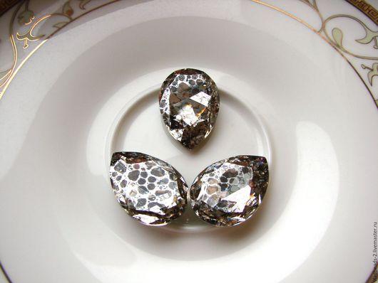 Для украшений ручной работы. Ярмарка Мастеров - ручная работа. Купить Капли Swarovski 30х20мм Silver-Patina. Handmade.