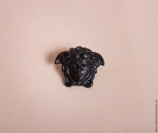 Шитье ручной работы. Ярмарка Мастеров - ручная работа. Купить Голова медузы-кнопка большая «Versace». Handmade. Черный