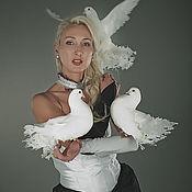 Одежда ручной работы. Ярмарка Мастеров - ручная работа Платье для номера с голубями.. Handmade.
