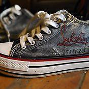 """Обувь ручной работы. Ярмарка Мастеров - ручная работа кеды с ручной росписью """"all you need is Labutin"""". Handmade."""