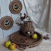 """Плетеный набор для кухни """"Дом, милый дом"""""""