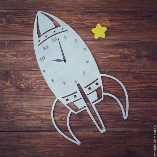 Часы для дома ручной работы. Ярмарка Мастеров - ручная работа. Купить Часы в детскую. Handmade. Белый, часы настенные
