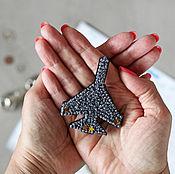 Украшения handmade. Livemaster - original item Embroidered brooch Airplane. Handmade.