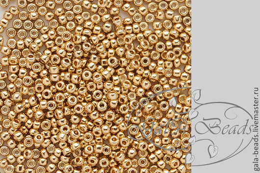Для украшений ручной работы. Ярмарка Мастеров - ручная работа. Купить Мацуно  24К  №11 золотое покрытие японский бисер 24 каратный 5 гр. Handmade.