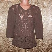 Одежда ручной работы. Ярмарка Мастеров - ручная работа Пуловер коричневый. Handmade.