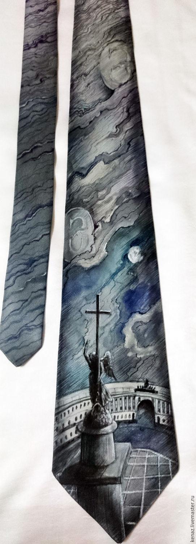 """Silk tie """"Saint-Petersburg"""", Ties, St. Petersburg,  Фото №1"""