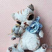 Куклы и игрушки ручной работы. Ярмарка Мастеров - ручная работа Кошечка и птичка.Авторская игрушка и ее питомец... Handmade.