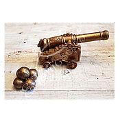 Косметика ручной работы handmade. Livemaster - original item Cannon with cannonballs handmade soap gift for a man 23 on February. Handmade.