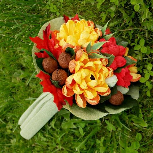 Букеты ручной работы. Ярмарка Мастеров - ручная работа. Купить Букет из конфет Осенняя композиция - подарок к дню учителя. Handmade.