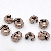 Материалы для творчества handmade. Livemaster - original item Decorative crimp 3 mm art. 4-29, color - copper. Handmade.