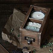 """Косметика ручной работы. Ярмарка Мастеров - ручная работа Подарочный набор """"Herbs"""" мыло и свеча. Handmade."""