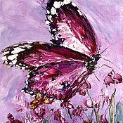 Картины и панно handmade. Livemaster - original item Abstract butterfly oil Relief oil painting. Handmade.