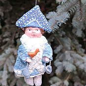 Елочные игрушки ручной работы. Ярмарка Мастеров - ручная работа Снегурочка сладкоежка. Девочка из ваты.. Handmade.