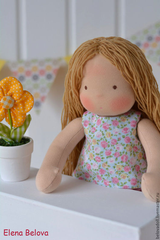 Вальдорфская игрушка ручной работы. Ярмарка Мастеров - ручная работа. Купить Вальдорфская кукла Соня. Handmade. Вальдорфская кукла