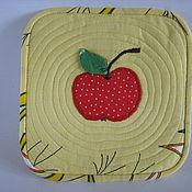 Для дома и интерьера ручной работы. Ярмарка Мастеров - ручная работа Прихватка яблоко. Handmade.