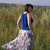 """Одежда ручной работы. Ярмарка Мастеров - ручная работа Комплект""""Синие цветы"""". Handmade."""