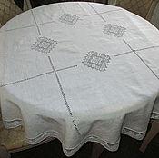 Для дома и интерьера ручной работы. Ярмарка Мастеров - ручная работа Скатерть круглая   4 ромба (+6 салфеток по желанию). Handmade.