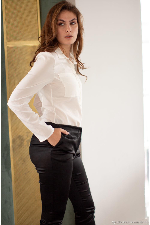 6db2888d7a2 Blouses handmade. Livemaster - handmade. Buy Silk white blouse.White