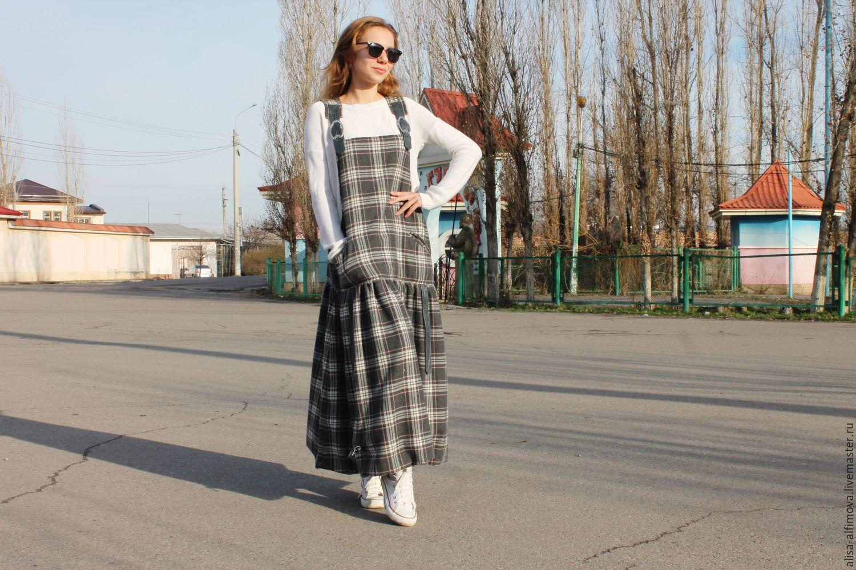 Winter boho sundress Sophie, wool, leather, cotton, Sundresses, Tashkent,  Фото №1
