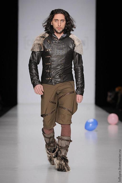 Верхняя одежда ручной работы. Ярмарка Мастеров - ручная работа. Купить Куртка Drovosek. Handmade. Коричневый, куртка кожаная, шипы