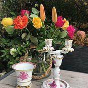 Винтаж handmade. Livemaster - original item Candle holder, planters Herend, porcelain, handmade, Hungary. Handmade.