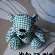 Куклы и игрушки ручной работы. Ярмарка Мастеров - ручная работа Мишка в клетку. Handmade.