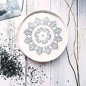Посуда ручной работы. Ярмарка Мастеров - ручная работа Тарелка - Мандала. Handmade.