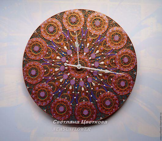 Часы для дома ручной работы. Ярмарка Мастеров - ручная работа. Купить Часы настенные Танжер Точечная роспись Восточный Стиль. Handmade.