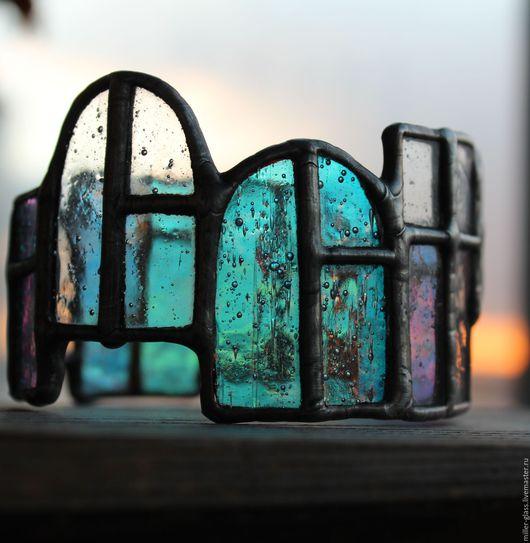"""Браслеты ручной работы. Ярмарка Мастеров - ручная работа. Купить Браслет """"Окна старого города"""" стекло.. Handmade. Разноцветный, окошки"""