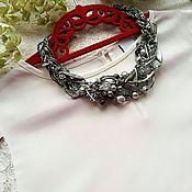 Украшения handmade. Livemaster - original item Necklace with grey pearl and hematite. Handmade.