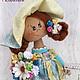 авторская кукла, текстильная кукла, кукла, кукла  в подарок, подарок на день рождения, подарок подруге, подарок девочке, интерьерная кукла, кукла ручной работы, Юлия Голованова, Ярмарка мастеров