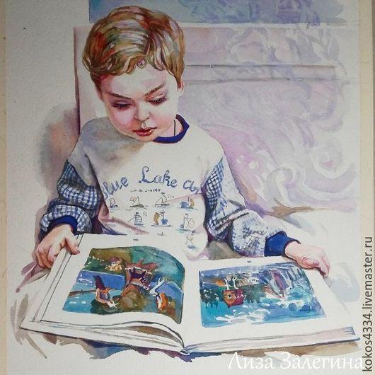 Люди, ручной работы. Ярмарка Мастеров - ручная работа. Купить Детский портрет .. Handmade. Портрет на заказ, подарок, акварель, портрет