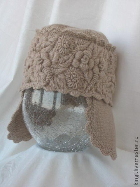 Связать варежки с вышивкой